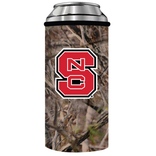 NC State Wolfpack Camo Skinny Can Coozie