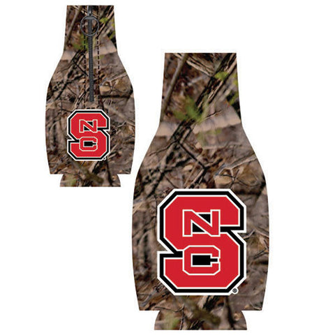 NC State Wolfpack Camo Zip Up Bottle Coozie