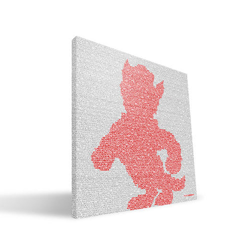 NC State Wolfpack 16X16 Typo Canvas Art