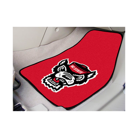 NC State Wolfpack Red Wolfhead Car Mats