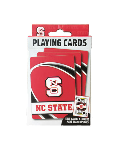 NC State Wolfpack Red Block S Playing Cards