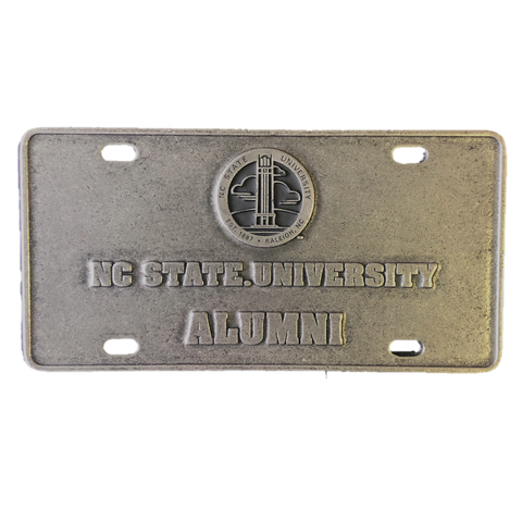 NC State Wolfpack Hallmark Seal Alumni Pewter License Plate
