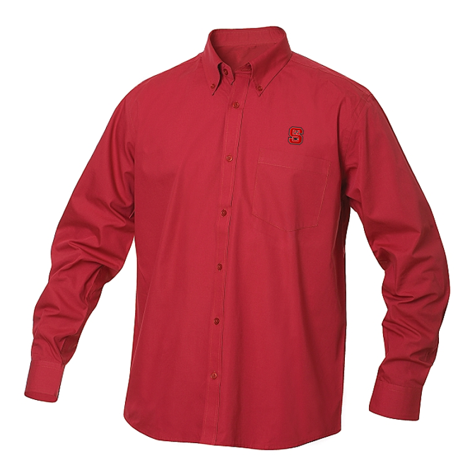 NC State Wolfpack Red Carter Twill Dress Shirt