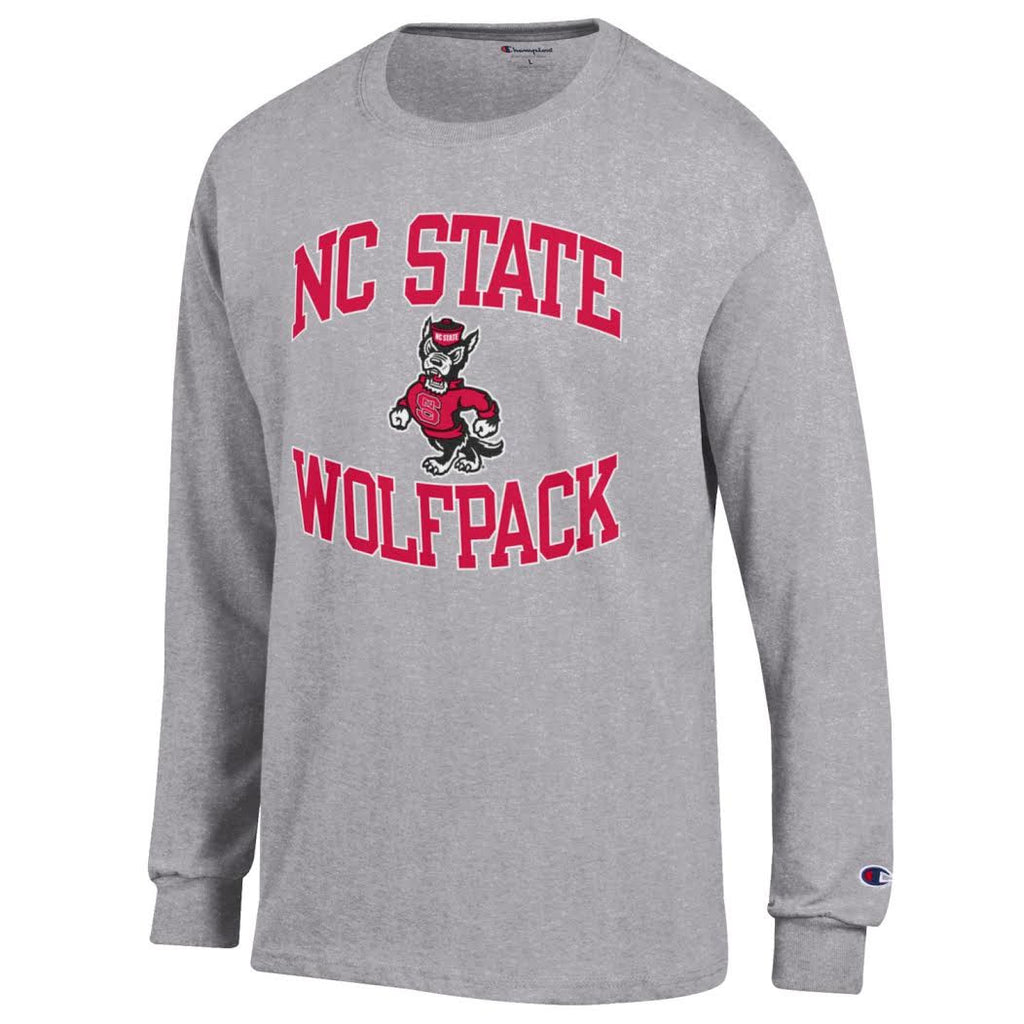 NC State Wolfpack Champion Grey Long Sleeve T-Shirt
