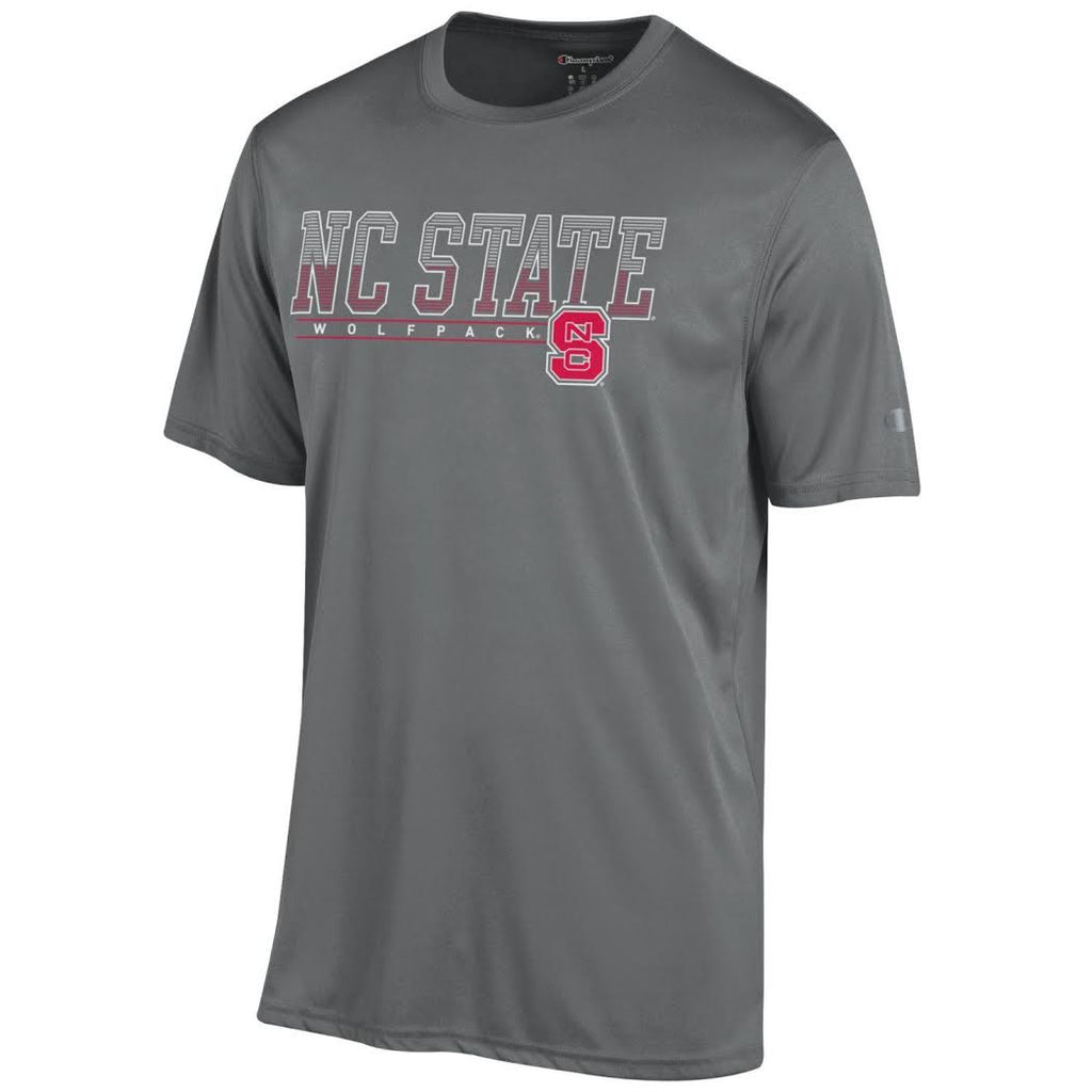 Nc State Wolfpack Champion Grey Athletic T Shirt Red And