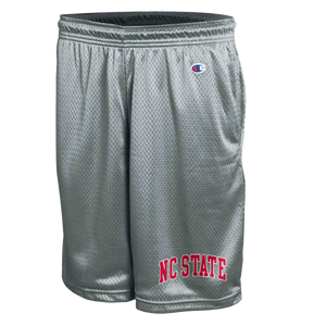 NC State Wolfpack Champion Active Grey NC State Mesh Shorts