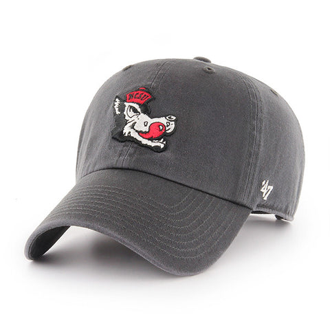 NC State Wolfpack Charcoal 47 Brand Clean Up Adjustable Slob Wolf Hat