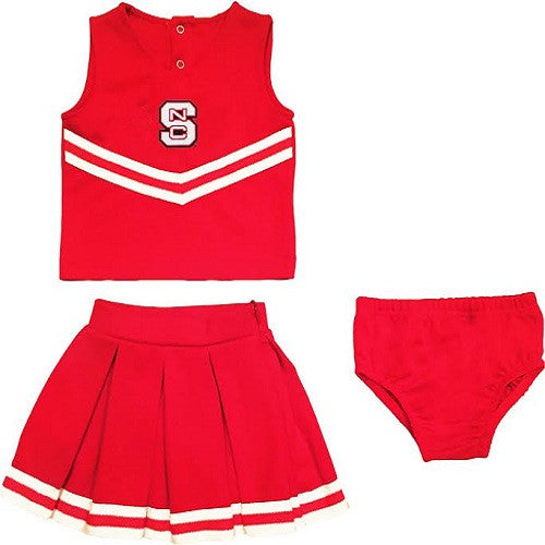 NC State Wolfpack Red Toddler Cheerleading Outfit w/ Bloomers