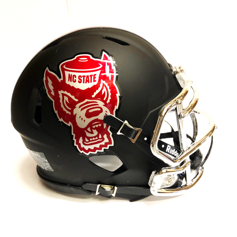 NC State Wolfpack Black Howl Wolfhead Replica Mini Speed Helmet