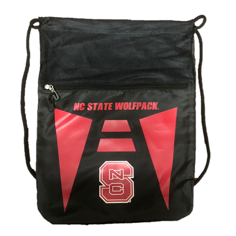 NC State Wolfpack Black Cinch Drawstring Backsack