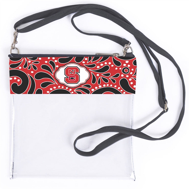 NC State Wolfpack Clear Crossbody Bag