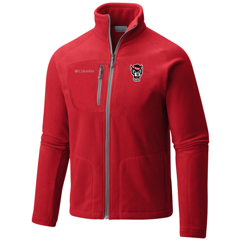 NC State Wolfpack Red Fast Trek II Full Zip Fleece Jacket