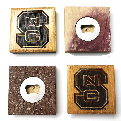 NC State Wolfpack Authentic Barrel Block S Coaster Set