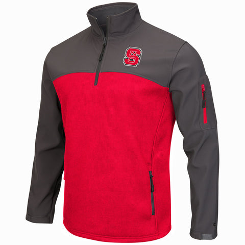 NC State Wolfpack Red and Grey 1/4 Zip Plow Jacket