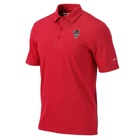 NC State Wolfpack Columbia Red Omni-Wick One Swing Polo