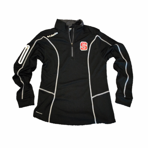 NC State Wolfpack Columbia Women's Black Omni-Wick Shotgun 1/4 Zip Jacket