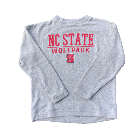 NC State Wolfpack Women's Grey Comfy Terry Crewneck