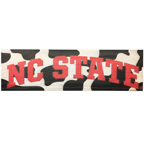 NC State Wolfpack Mill Wood Arched NC State Cow Art