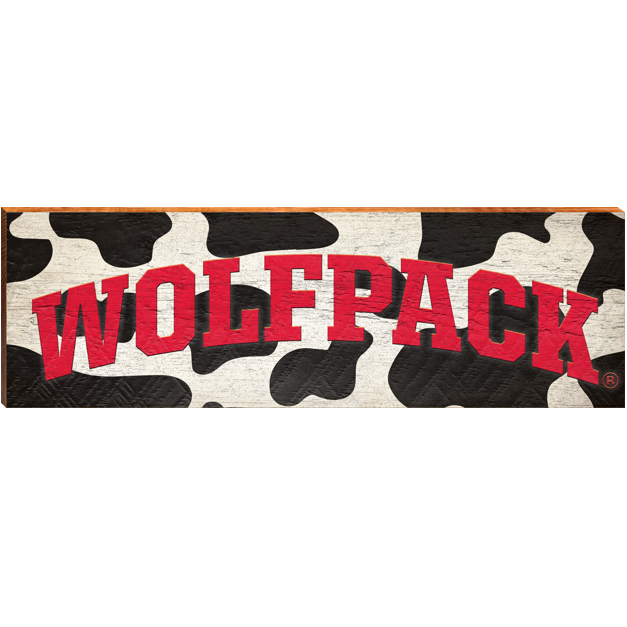 NC State Wolfpack Mill Wood Cow Art