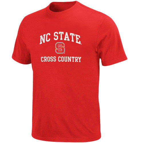 NC State Wolfpack Red Sport Cross Country Youth T-Shirt