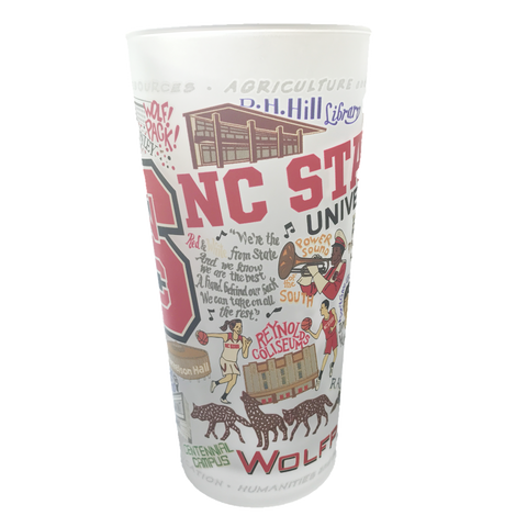 NC State Wolfpack Geographic 15 oz. Glass