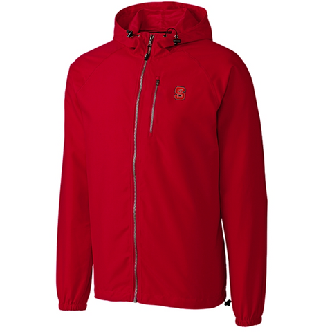 NC State Wolfpack Cutter & Buck Red Anderson Full Zip Jacket