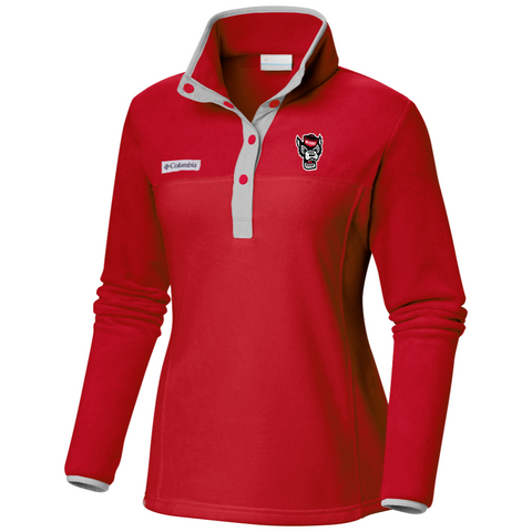 NC State Wolfpack Women's Red Benton Springs Half Snap Pullover