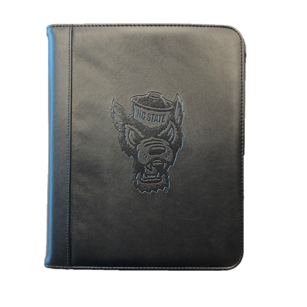 NC State Wolfpack Black 10x12 Deluxe Student Wolfhead Padfolio