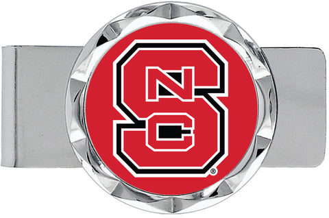 NC State Wolfpack Red Block S Diamond Cut Money Clip