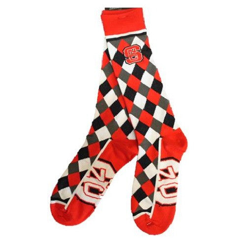 NC State Wolfpack Red Diamond Striped Zoom Sock