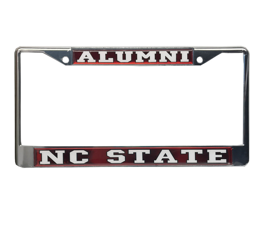 NC State Wolfpack Red Mirror Domed Alumni License Plate Frame