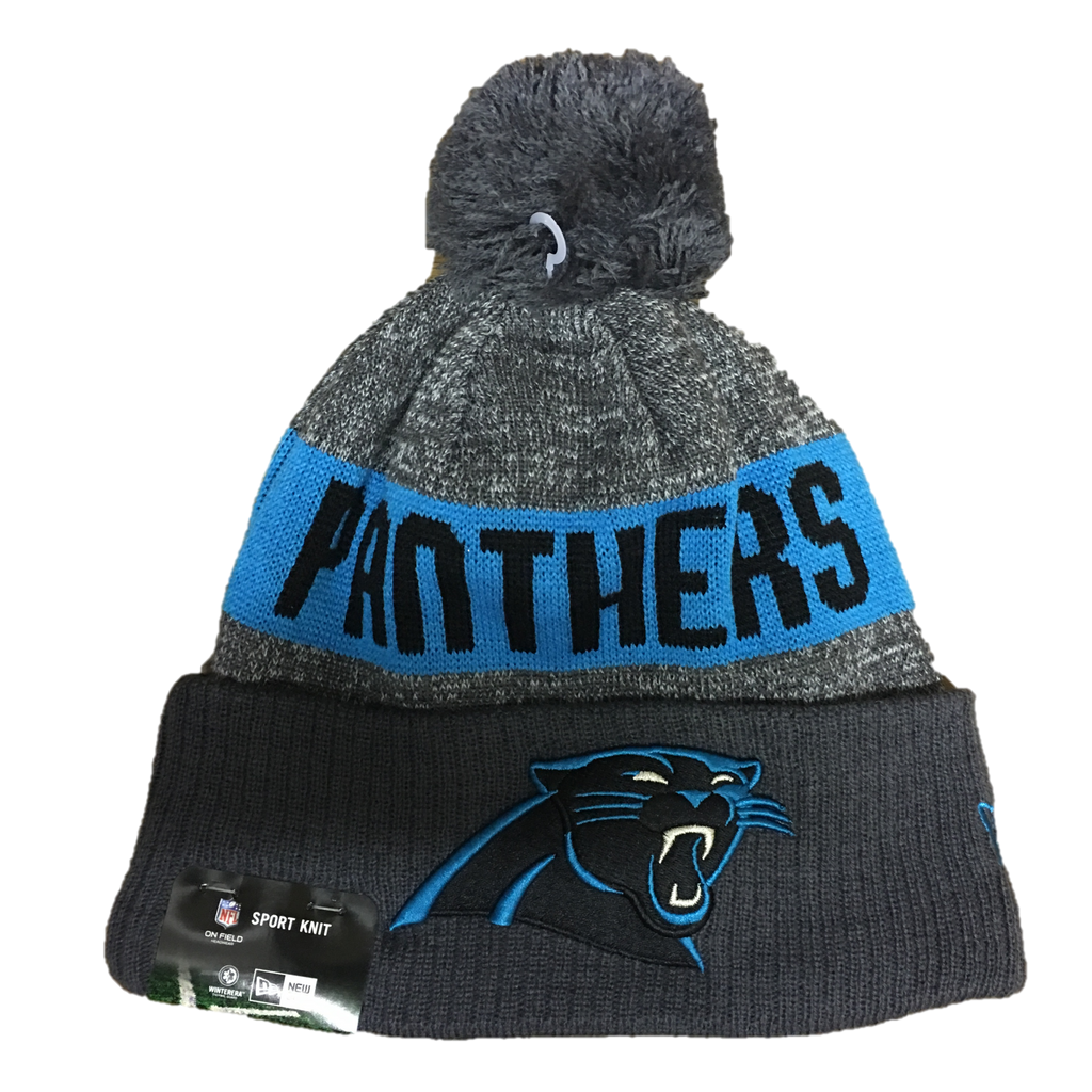 2016 Youth Double Grey Carolina Panthers On Field Pom Beanie