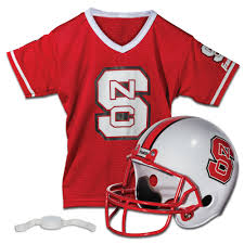 NC State Wolfpack Block S Helmet and Jersey Set