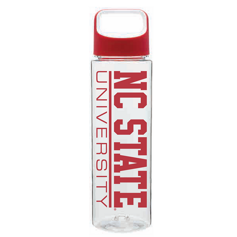 NC State Wolfpack 27oz Clear Elevate Water Bottle