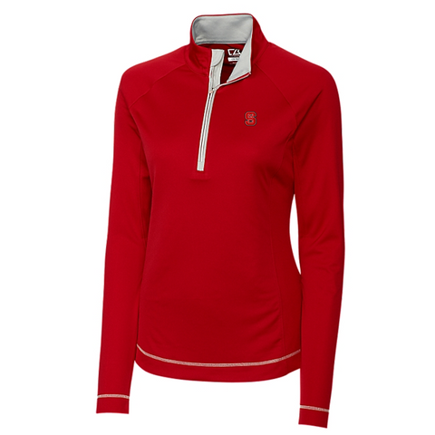 NC State Wolfpack Cutter & Buck Women's Red Evolve Half Zip Jacket