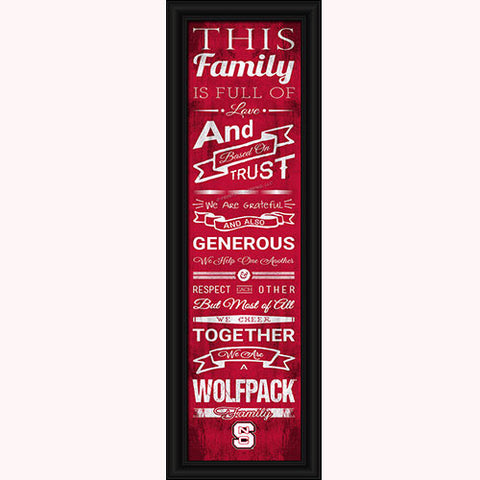 NC State Wolfpack Family Cheer Print