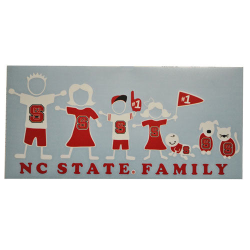 NC State Wolfpack SDS Family Decal Sheet