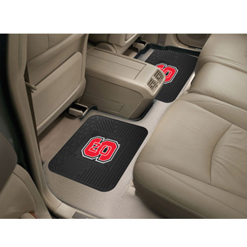 NC State Wolfpack 14x17 2 pc.Utility Backseat Car Mats