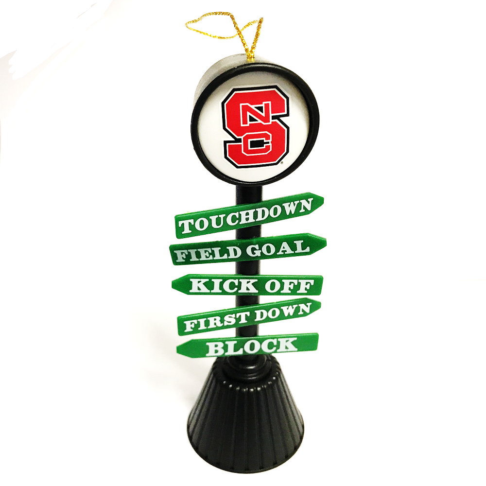 NC State Wolfpack Fan Crossing Ornament