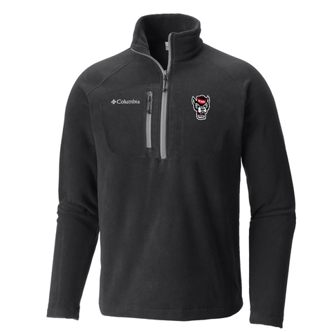 NC State Columbia Black Fast Trek III Half Zip Fleece Jacket
