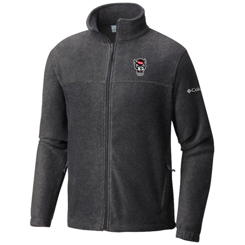 NC State Wolfpack Columbia Charcoal Wolfhead Flanker Full Zip Jacket