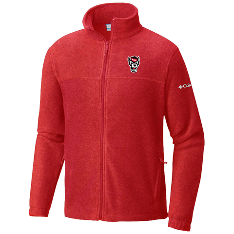 NC State Wolfpack Columbia Red Wolfhead Flanker Full Zip Jacket