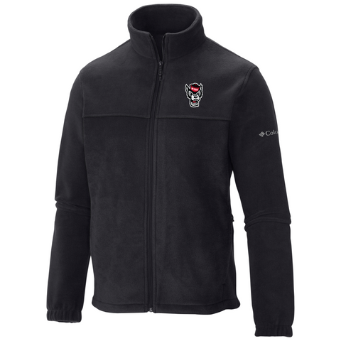 NC State Wolfpack Columbia Black Flanker Full Zip Jacket
