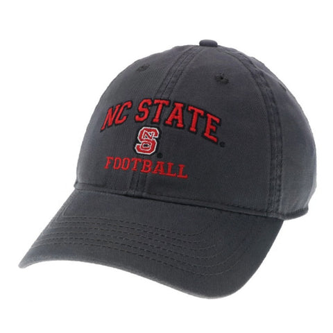NC State Wolfpack Football Dark Grey Relaxed Fit Adjustable Hat