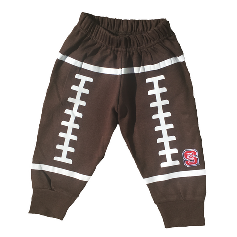 NC State Wolfpack Infant Brown Football Pants