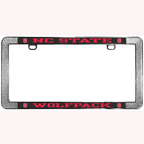 NC State Wolfpack Metal Thin Rim License Frame