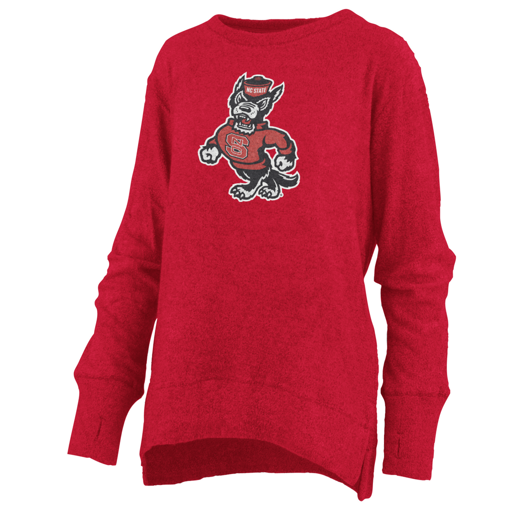 "NC State Wolfpack Women's Red ""Fresno"" French Terry Pullover"