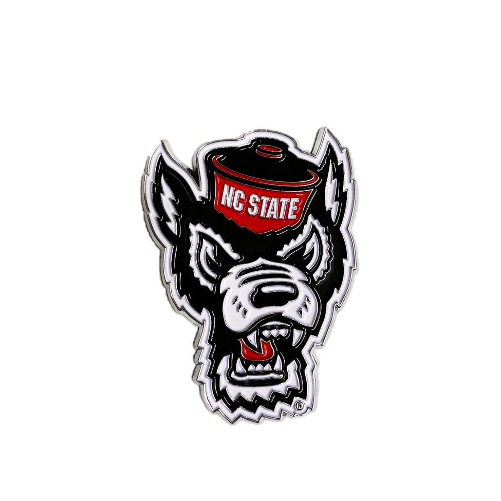 NC State Wolfpack Wolfhead Colored Emblem