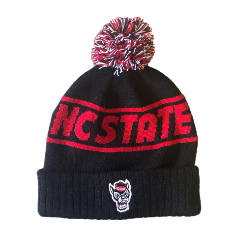 NC State Wolfpack TOW Red and Black Ruth Wolfhead Cuffed Beanie