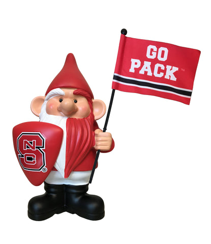 NC State Wolfpack Flag Holder Gnome